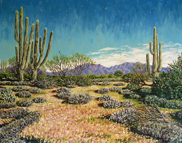 Painting - Desert Scene Near Carefree by Bonnie Follett
