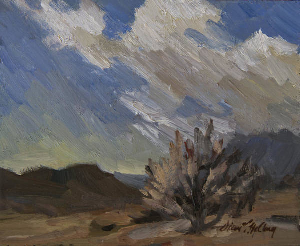 Wall Art - Painting - Desert Shower by Diane McClary
