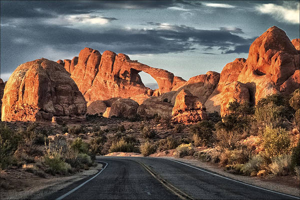 Moab Photograph - Desert Sundown by Robert Fawcett