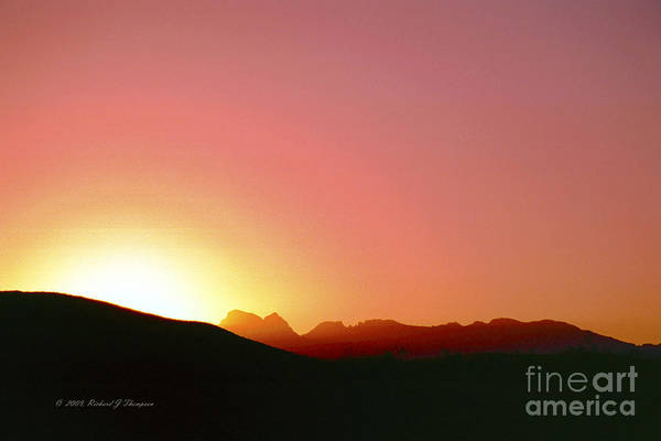Photograph - Desert Sunrise by Richard J Thompson