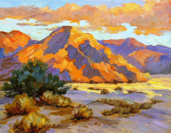 La Quinta Wall Art - Painting - Desert Sunset by Diane McClary