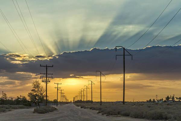 Photograph - Desert Sunset by Jim Moss
