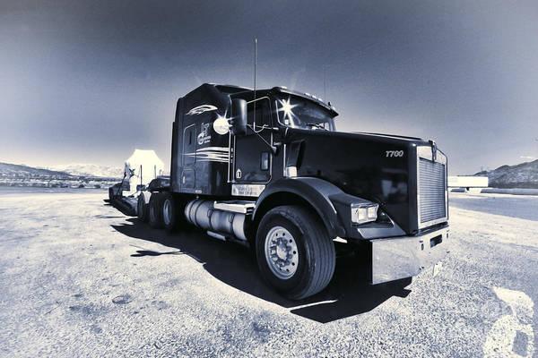 Peterbilt Photograph - Desert Trucking  by Rob Hawkins
