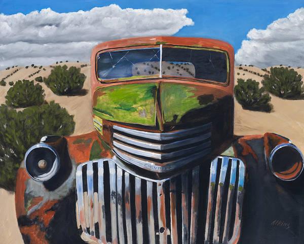 Trucks Wall Art - Painting - Desert Varnish by Jack Atkins