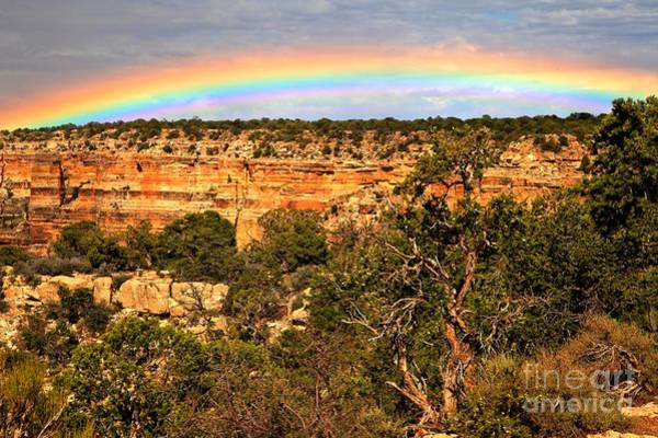 Photograph - Desert View Rainbow by Adam Jewell
