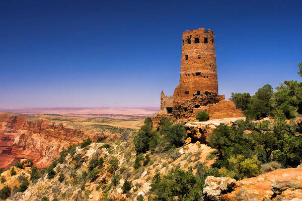 Painting - Grand Canyon National Park Desert View Watchtower by Christopher Arndt