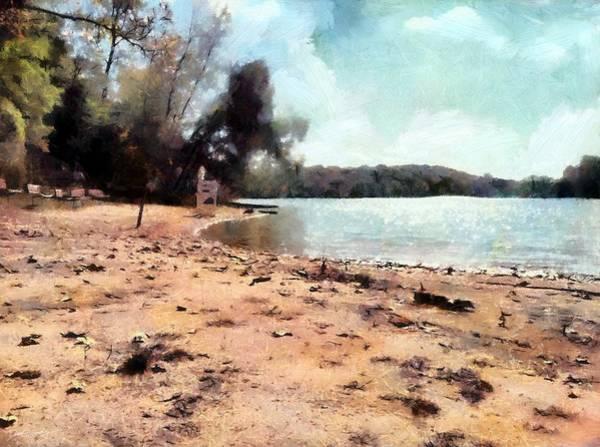 Painting - Deserted Beach by Derek Gedney