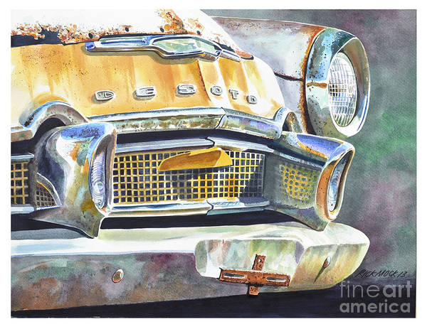Oxidation Painting - Deserted Desoto by Rick Mock