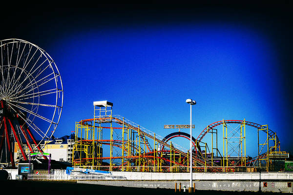 Photograph - Deserted Ocean City Amusement Pier Rembrandt by Bill Swartwout Photography