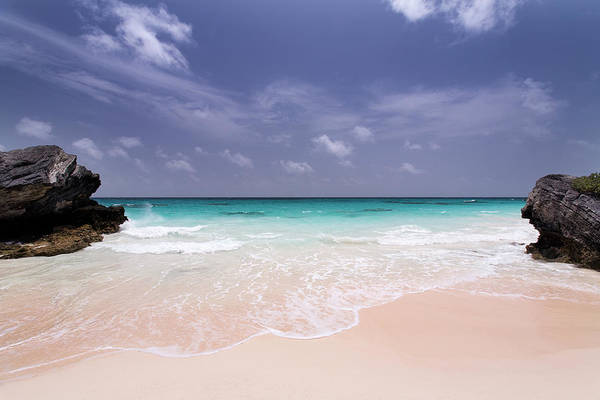 Bermuda Photograph - Deserted Pink Sand Beach In Bermuda by Zxvisual
