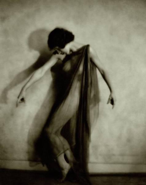 1921 Photograph - Desha Dancing In Sheer Garment by Nickolas Muray