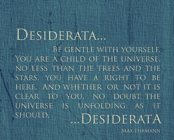 Wall Art - Mixed Media - Desiderata On Canvas by Dan Sproul