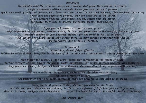 Wall Art - Mixed Media - Desiderata Winter Scene by Dan Sproul