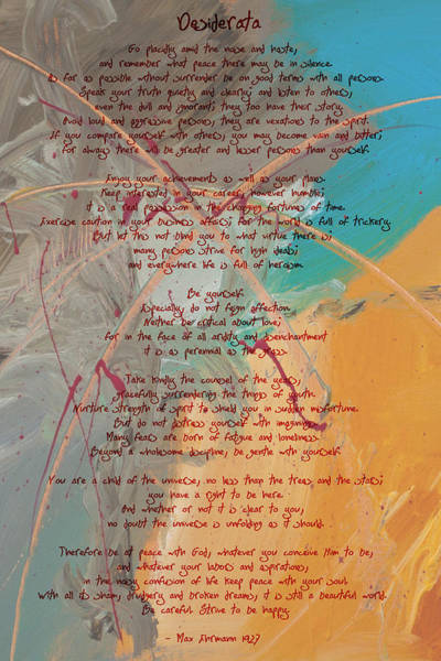 Painting - Desiderata - Wishes Do Come True by Paulette B Wright