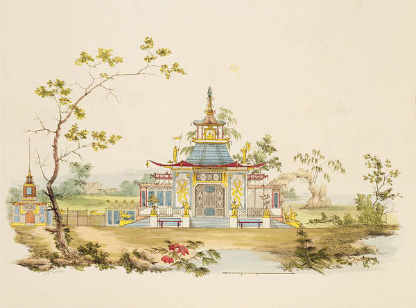 Architecture Drawing - Design For A Chinese Temple, C.1810 by G. Landi