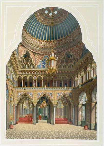 Villa Drawing - Design For The Entrance Hall by Karl Ludwig Wilhelm Zanth