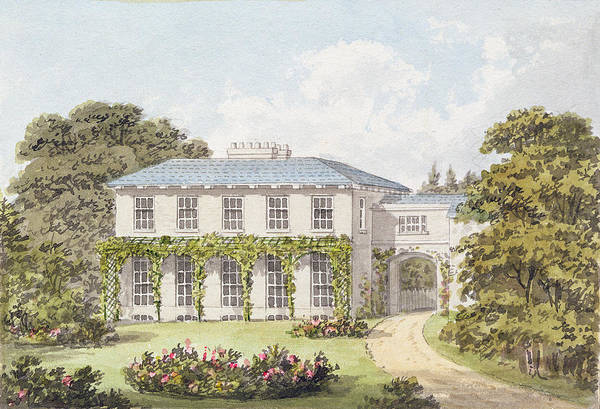Drive Drawing - Design For The South Front Of A House by Humphry Repton