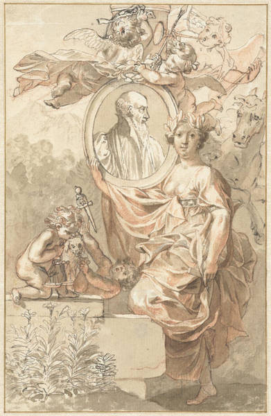 Arcadia Drawing - Design For The Title Page Of Sannisarius Arcadia by Quint Lox