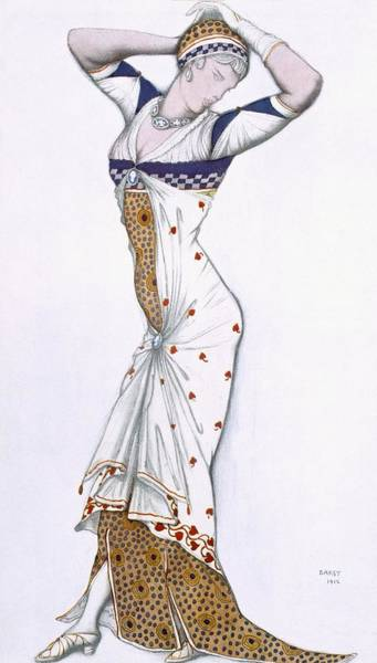 Exotic Drawing - Design From A Fantasy Of Modern by Leon Bakst