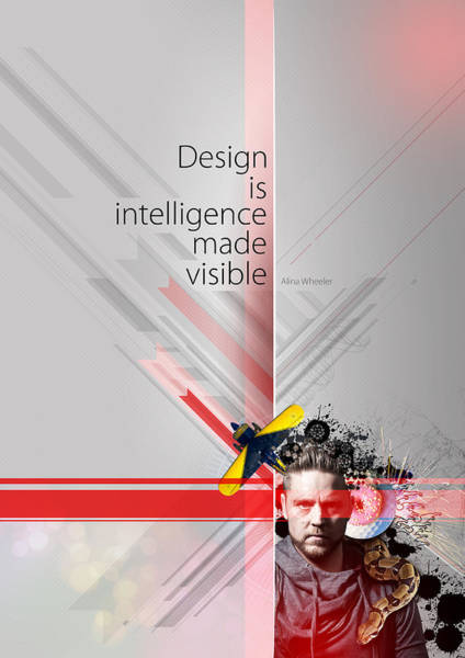 Intelligence Digital Art - Design Is Intelligence by Samuel Whitton