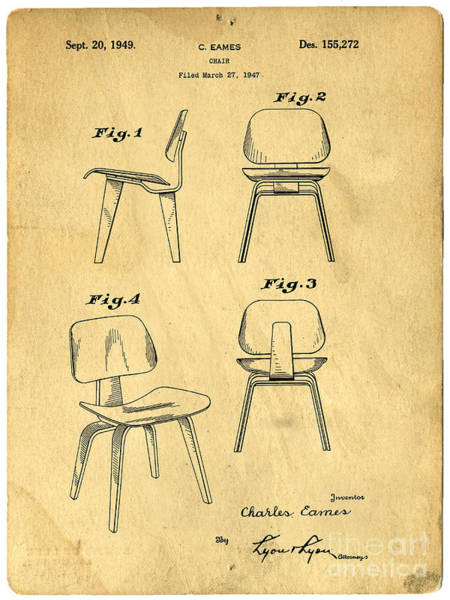 Digital Art - Designs For A Eames Chair by Edward Fielding