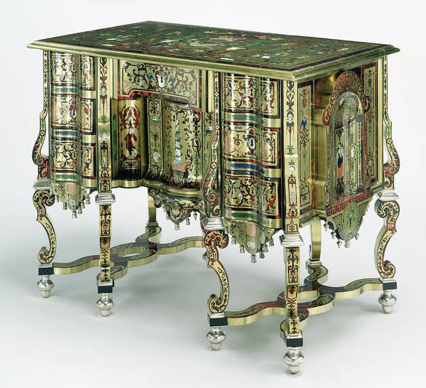 Drawers Painting - Desk Bureau Mazarin Unknown Paris, France, Europe by Litz Collection