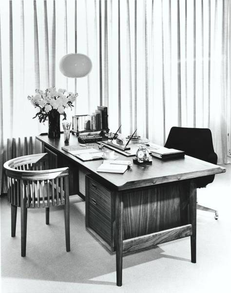 Desk Photograph - Desk For Two By George Tanier by Pedro E. Guerrero