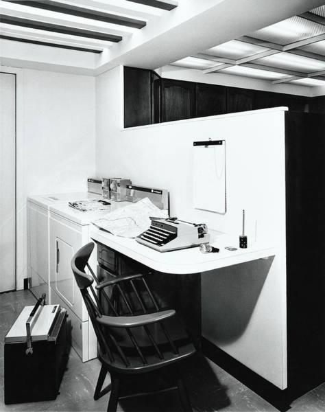Desk Photograph - Desk Next To Laundry by Pedro E. Guerrero