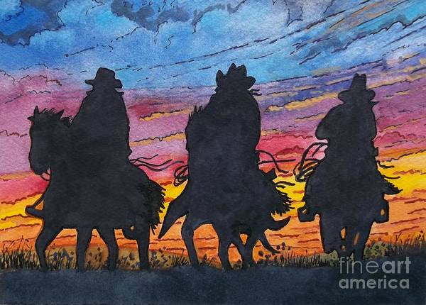 Wall Art - Painting - Desperados by Don Hand