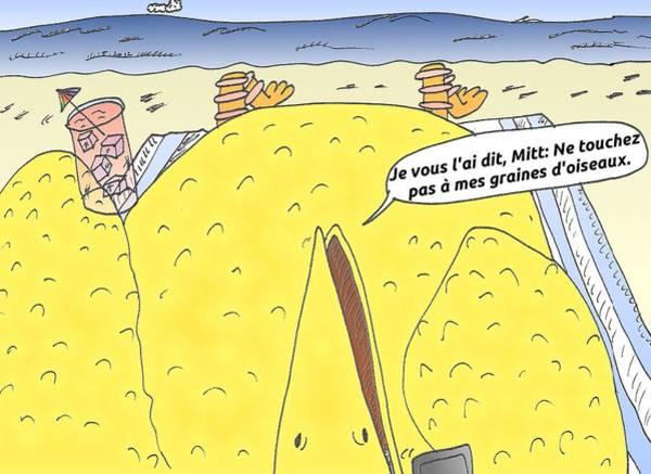 Ant Mixed Media - Dessin Comique Politique De Big Bird by OptionsClick BlogArt