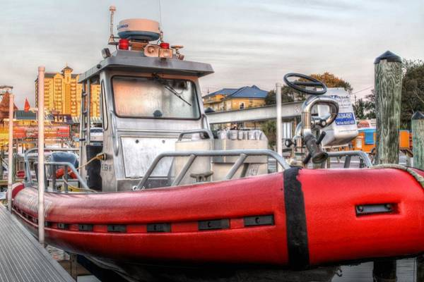 Fireboat Wall Art - Photograph - Destin Fire And Rescue by JC Findley