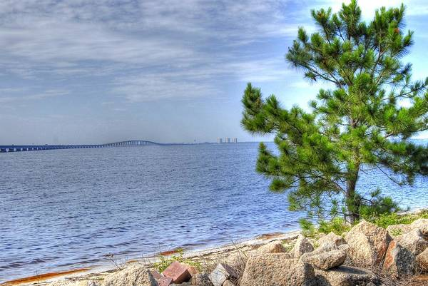 Destin Midbay Bridge Art Print