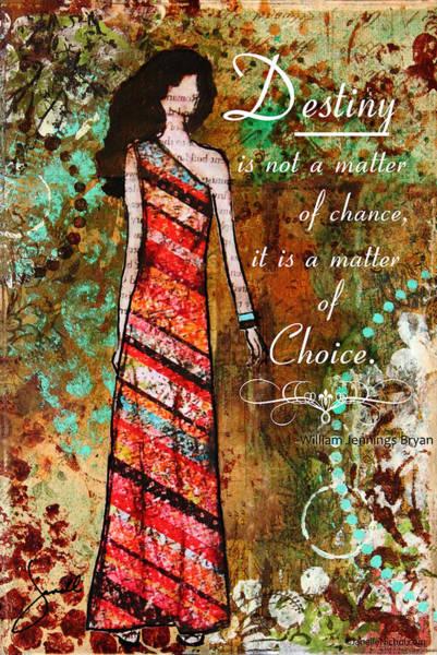 Elegant Mixed Media - Destiny Inspirational Christian Art by Janelle Nichol