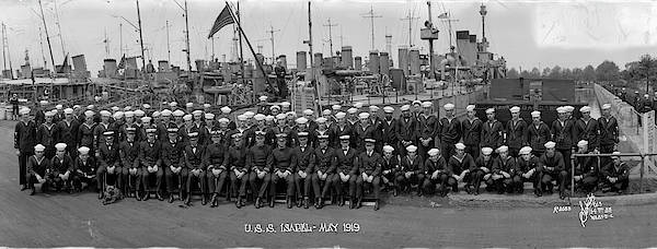 First Officer Photograph - Destroyer Isabel & Crew 1919 by Fred Schutz Collection
