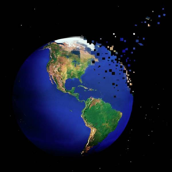 Disintegrate Photograph - Destruction Of The Earth by Reporters/science Photo Library