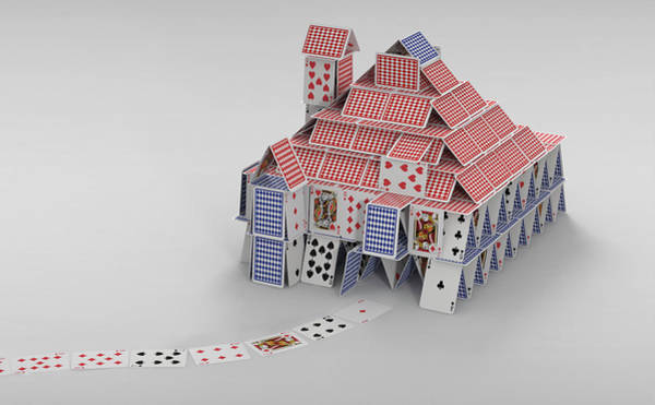 Wall Art - Photograph - Detached House Of Cards by Ikon Images