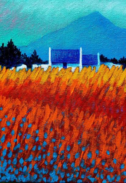 Atmospheric Painting - Detail From Golden Wheat Field by John  Nolan