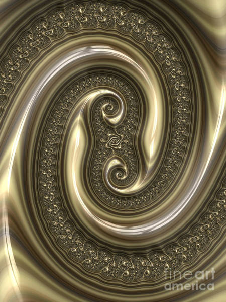 Emboss Wall Art - Digital Art - Detail From Repousse In Bronze by John Edwards