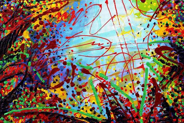 Abstract Expressionism Wall Art - Painting - Detail From  To Make Visible The Invisible  II by John  Nolan
