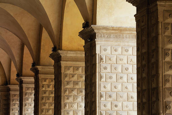 Design Photograph - Detail Of A Row Of Arched Colonnades by Michael Interisano / Design Pics