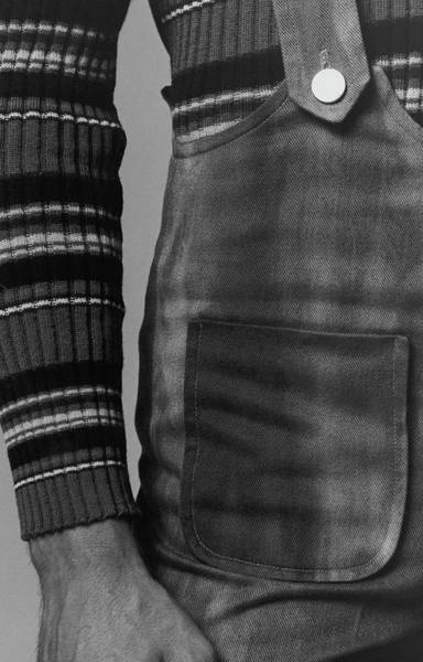 Designer Clothing Photograph - Detail Of A Sweater And Overalls by Peter Levy