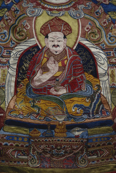 Wall Art - Photograph - Detail Of A Tibetan Thangka by George Holton