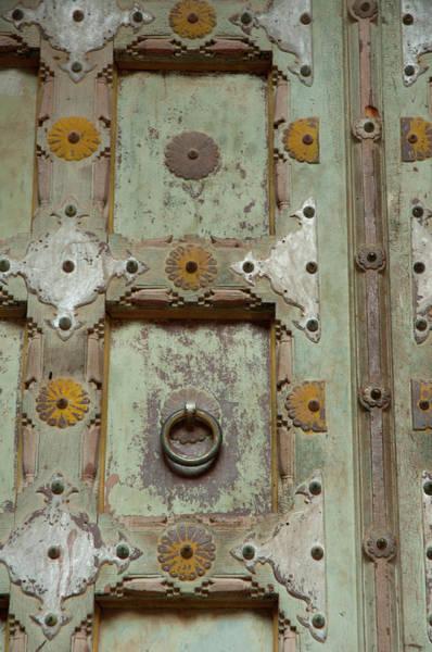 Singh Wall Art - Photograph - Detail Of A Wooden Door, Mehrangarh by Inger Hogstrom