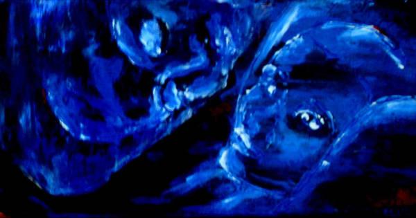 Hallucination Painting - Detail Of Seeking Sleep-2 by Kathy Peltomaa Lewis