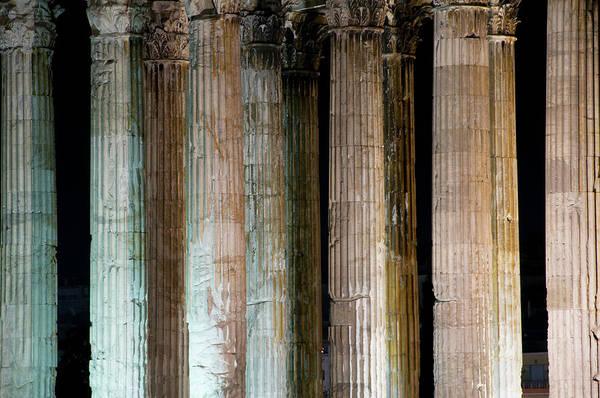 Ancient Greek Photograph - Detail Of Surviving Columns On Temple by Krzysztof Dydynski