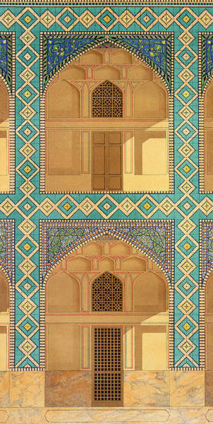 Tile Drawing - Detail Of The Courtyard Arcades by Pascal Xavier Coste