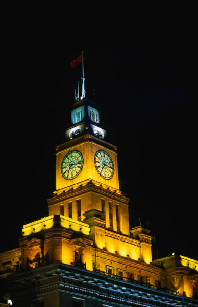 The Clock Tower Photograph - Detail Of The Illuminated Big Ching by Chris Mellor