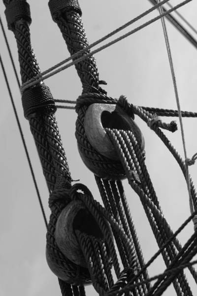 Wall Art - Photograph - Detail Of The Rigging - Monochrome by Ulrich Kunst And Bettina Scheidulin