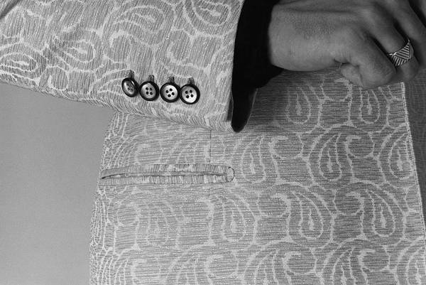 Male Body Photograph - Detail Of The Sleeve Of A Paisley Jacket by Peter Levy