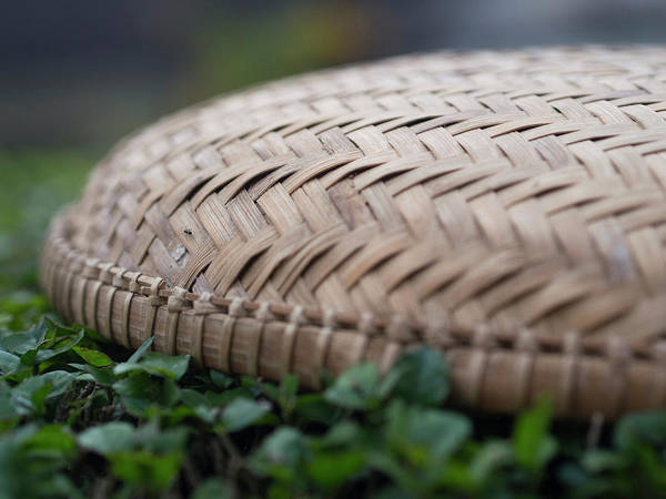 Hoi An Photograph - Detail Of Woven Basket In Hoi An by David H. Wells